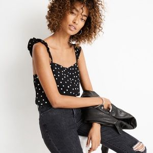 Madewell Ruffle-Strap Cami Top in Painted Dots 4